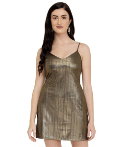 Bronze Metallic Bodycon