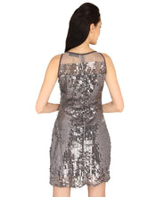 Load image into Gallery viewer, Sleeveless Sequins Silver Shiny Dress