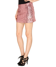Load image into Gallery viewer, Pink Sequins Mini Skirt