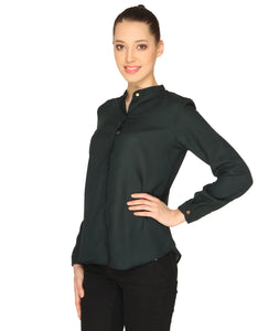 Green Formal Sheer Top