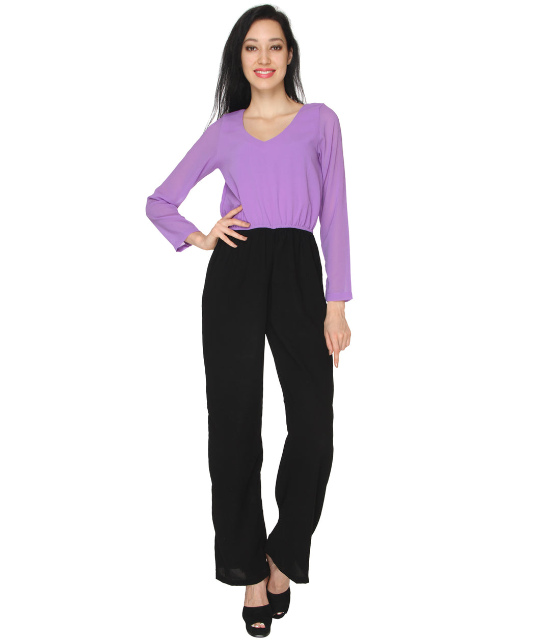 Purple Formal Jumpsuit