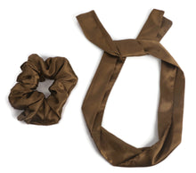 Load image into Gallery viewer, Satin scrunchies cum bandana set