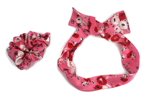 Printed scrunchies cum bandana set