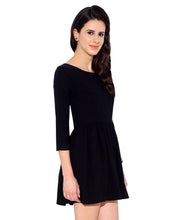 Load image into Gallery viewer, Black Fit and Flare Dress