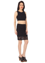 Load image into Gallery viewer, Floral Lace Pencil Skirt
