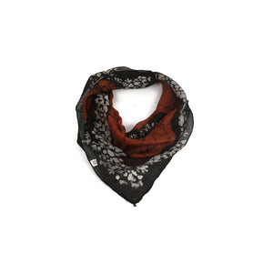 Black And Brown Print Scarf