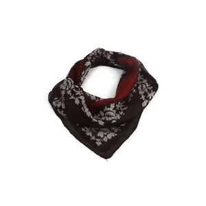 Black And Red Print Scarf
