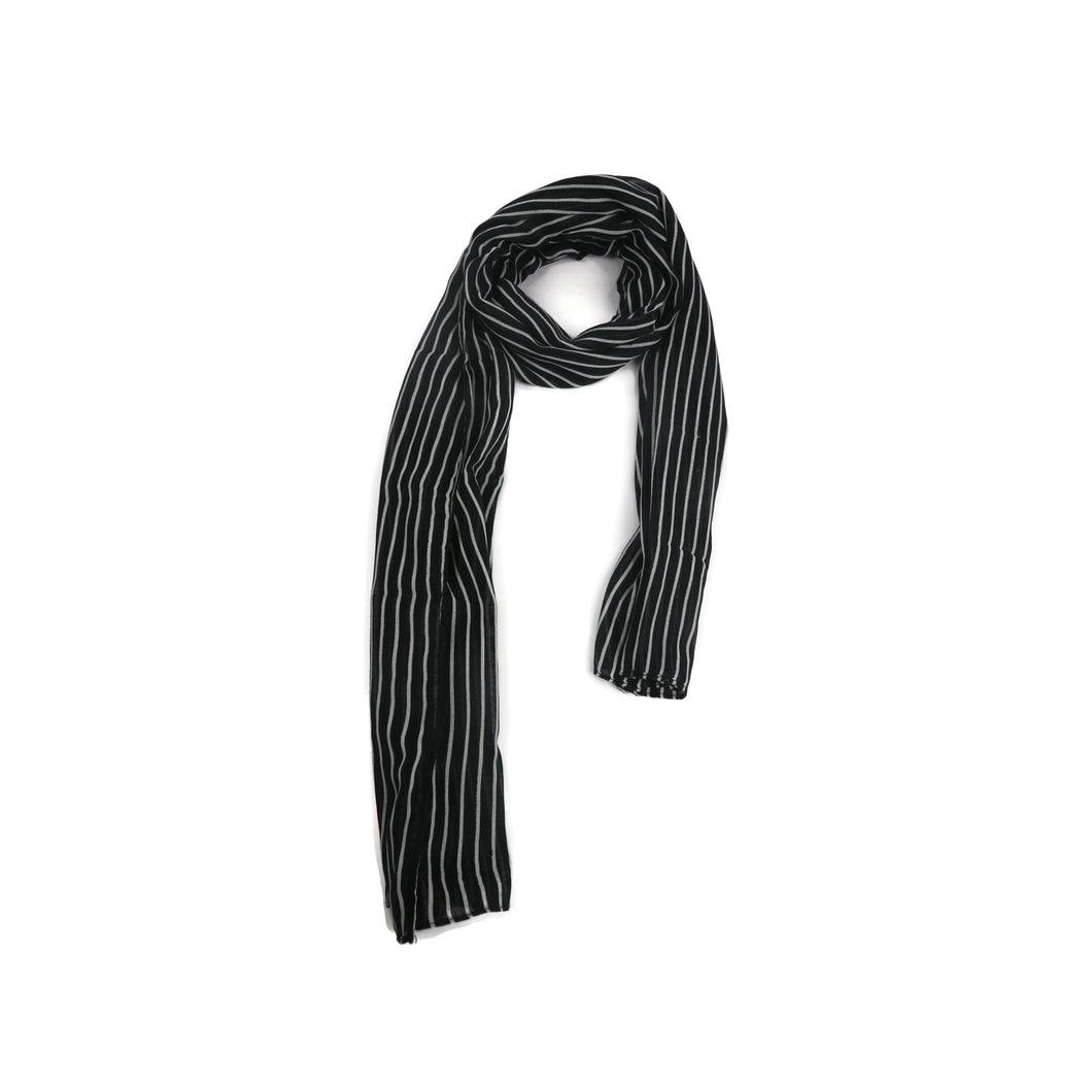 Black and White Stripes Scarf
