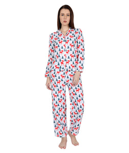Christmas Printed Nightsuit Set