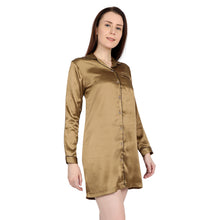Load image into Gallery viewer, Golden satin night shirt