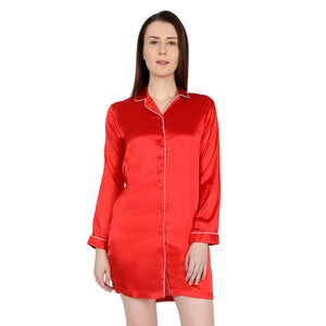 Red satin night shirt