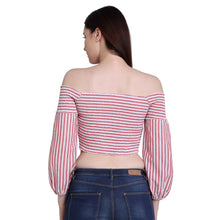 Load image into Gallery viewer, Off Shoulder Candy Crop Top