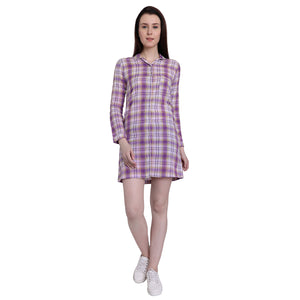 Purple Checks Night Shirt