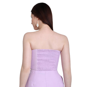 Purple Off Shoulder Bustier