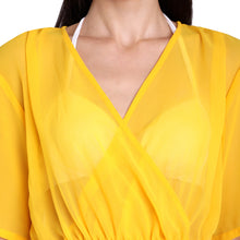 Load image into Gallery viewer, Yellow Boho Style Poncho
