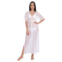 Load image into Gallery viewer, Off White Maxi Cover Up