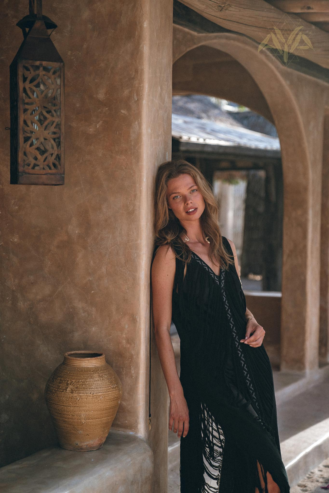 New! Boho Handwoven and Hand-Loomed Dress • Tribal Raw Cotton Cover-up - AYA Sacred Wear