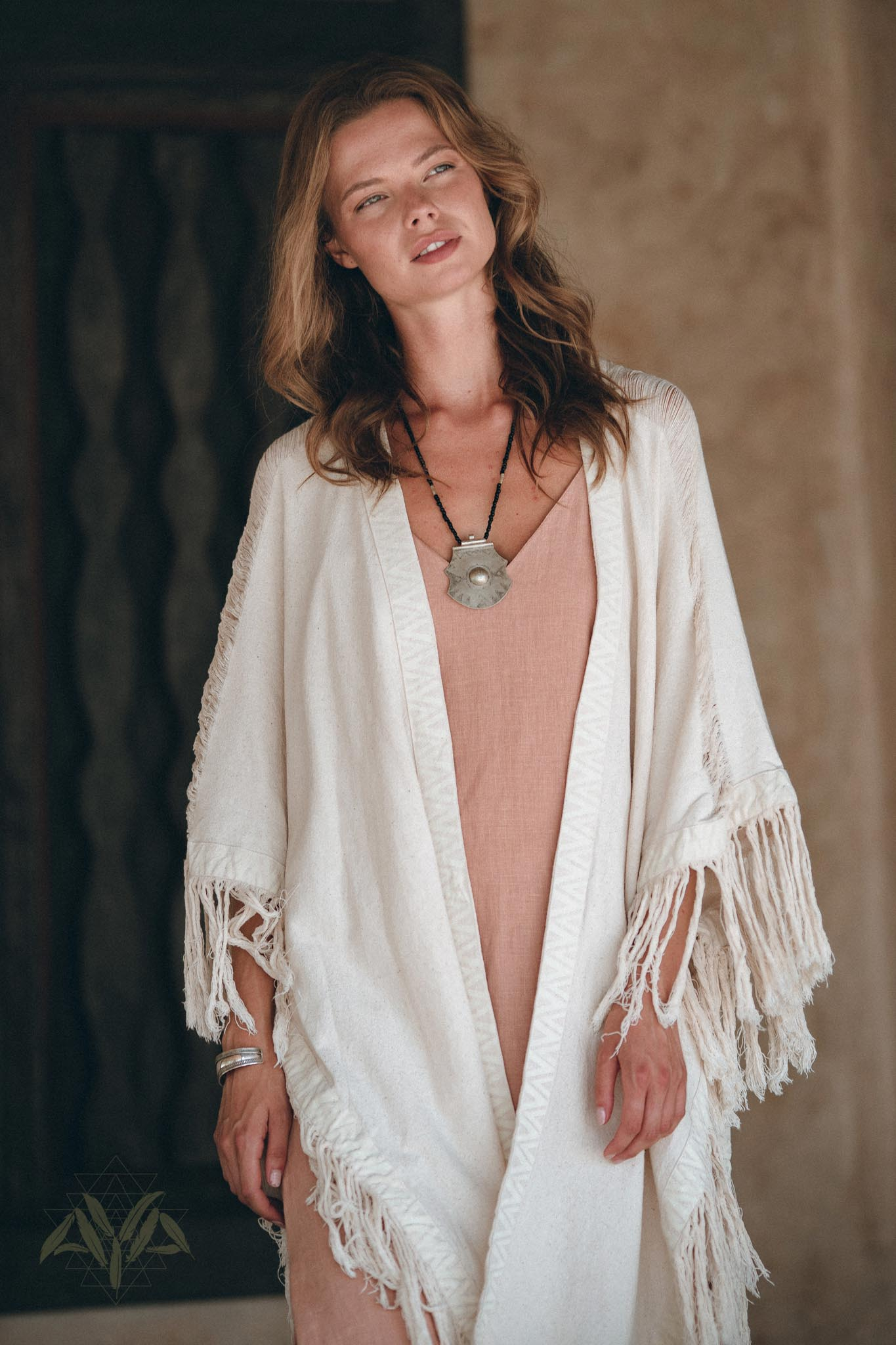 Off-White Cardigan • Boho Poncho Women Fringed • Wide Sleeve Women Cardigan - aya.eco