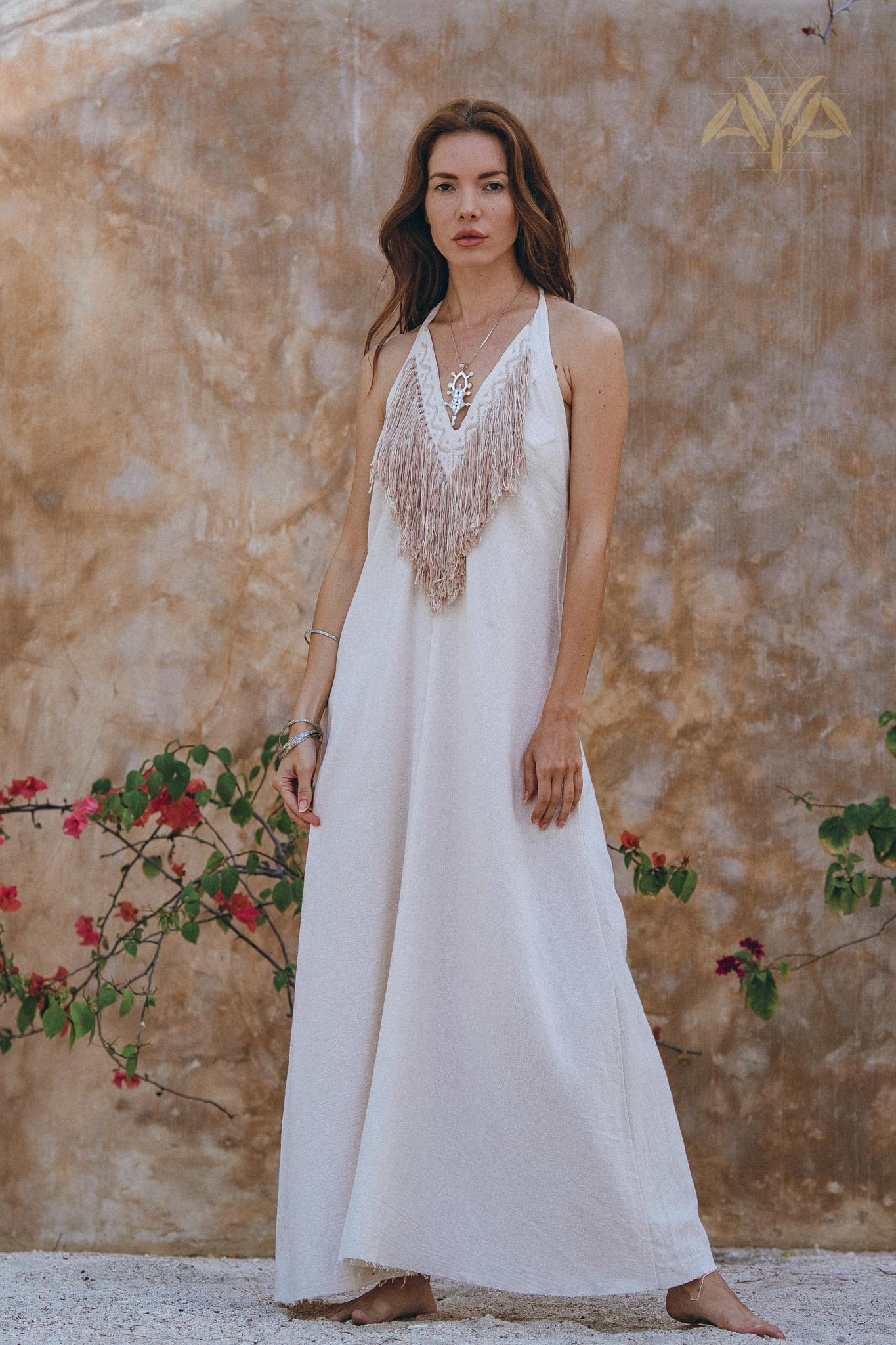 Boho Wedding Dress • Simple Wedding Dress • Off White Boho Dress - aya.eco