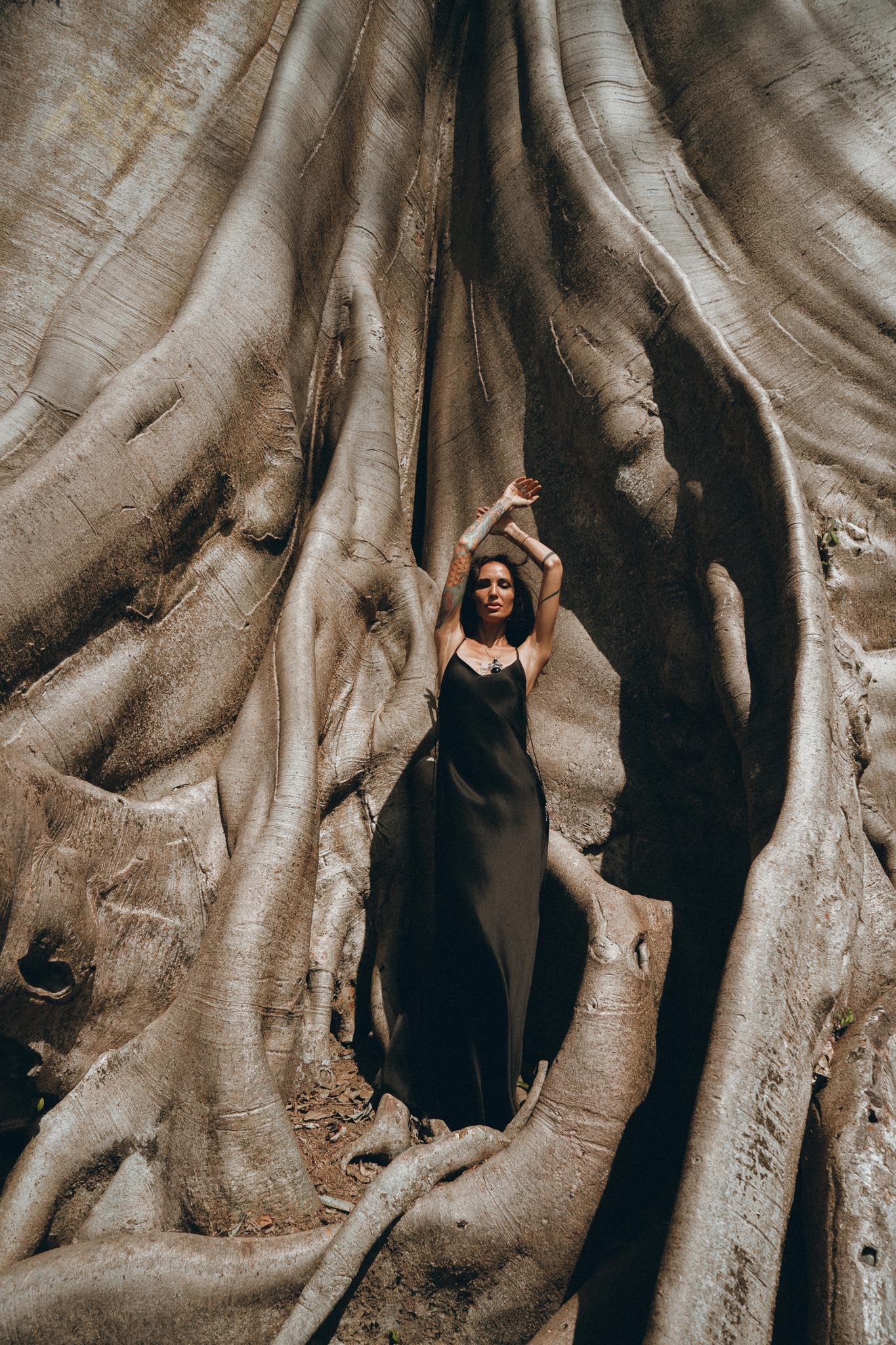 NEW! Silk Slip Dress • Natural Silk Boho Dresses Women • Black Long Maxi Dress - aya.eco