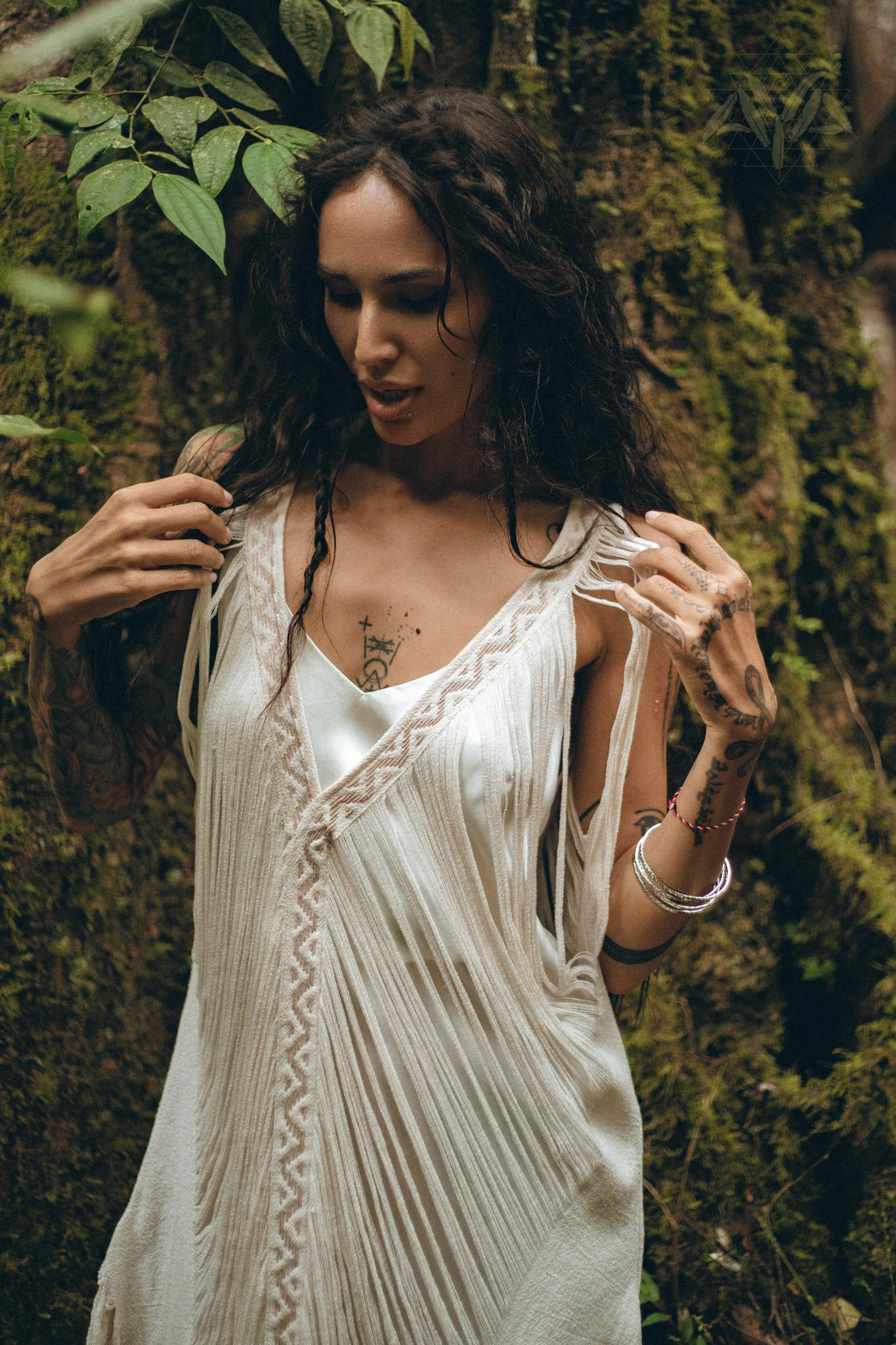 New! See Through Dress • Long Maxi Dress • Tribal Raw Cotton Cover-up - aya.eco