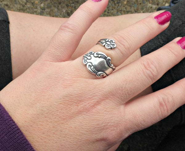 Spoon Ring. Sterling silver ring, silver jewelry, bohemian fashion accessories. -  - McKee Jewelry Designs - 5