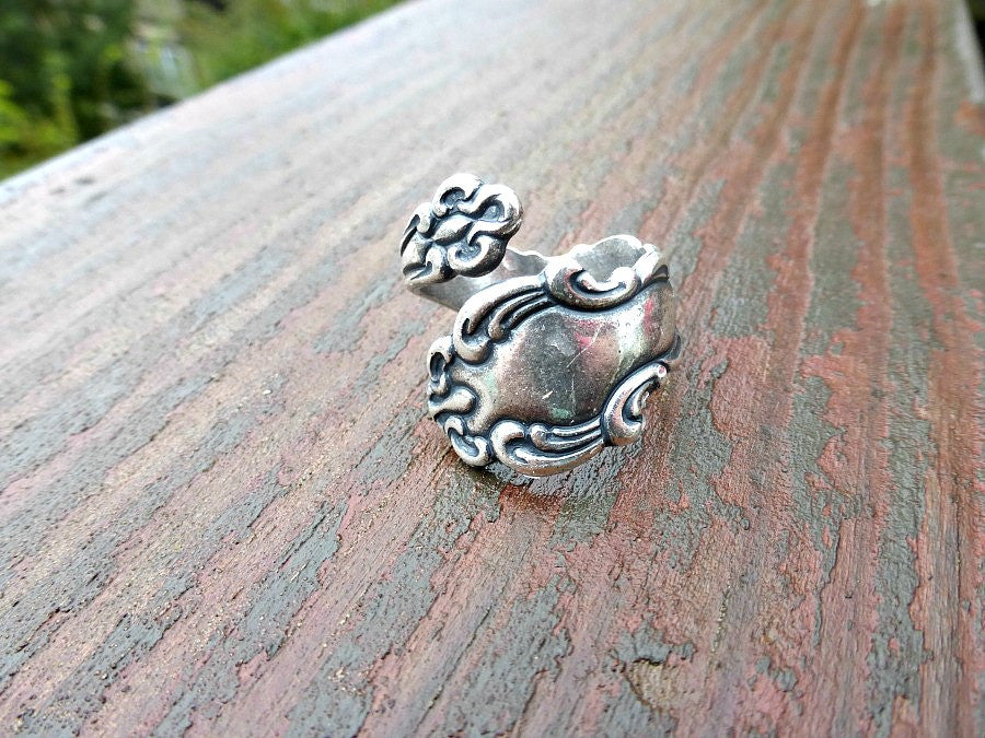 Spoon Ring. Sterling silver ring, silver jewelry, bohemian fashion accessories. - Andria Bieber Designs, Ring - Jewelry,  Andria Bieber Designs  - Andria Bieber Designs