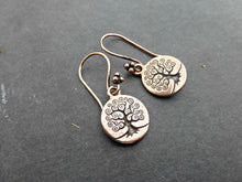 Load image into Gallery viewer, Copper tree of life earrings. Small lightweight earrings.  Yoga, bohemian. Handmade jewelry. - Andria Bieber Designs, Earrings - Jewelry,  Andria Bieber Designs  - Andria Bieber Designs