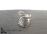 Spoon Ring. Flowers. Sterling silver ring, silver jewelry, bohemian fashion accessories. - Andria Bieber Designs, Ring - Jewelry,  McKee Jewelry Designs - Andria Bieber Designs