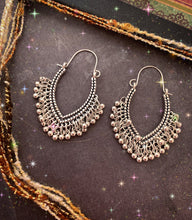 Load image into Gallery viewer, Sparkles. Silver boho dangle drop earrings, Boho, jewelry. - Andria Bieber Designs, Earrings - Jewelry,  Andria Bieber Designs  - Andria Bieber Designs