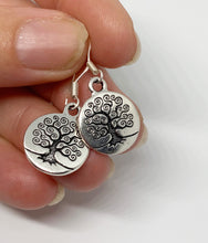 Load image into Gallery viewer, Sterling silver tree of life earrings. Small, jewelry. - Andria Bieber Designs, Earrings - Jewelry,  Andria Bieber Designs  - Andria Bieber Designs