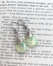 Load image into Gallery viewer, Yellow transparent teardrop Czech glass and silver wire wrapped, sterling silver earrings.