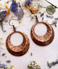 Load image into Gallery viewer, Hammered hoops. copper metal, earrings, jewelry. - Andria Bieber Designs, Earrings - Jewelry,  Andria Bieber Designs  - Andria Bieber Designs