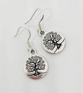 Sterling silver tree of life earrings. Small, jewelry. - Andria Bieber Designs, Earrings - Jewelry,  Andria Bieber Designs  - Andria Bieber Designs