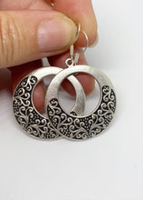 Load image into Gallery viewer, Filigree hearts. Sterling silver hoop earrings, jewelry. - Andria Bieber Designs, Earrings - Jewelry,  Andria Bieber Designs  - Andria Bieber Designs