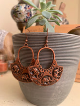Load image into Gallery viewer, Elephant hoops, copper metal earrings - Andria Bieber Designs, Earrings - Jewelry,  Andria Bieber Designs  - Andria Bieber Designs