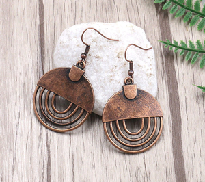 Copper metal, Round Drop, copper earrings - Andria Bieber Designs, Earrings - Jewelry,  Andria Bieber Designs  - Andria Bieber Designs