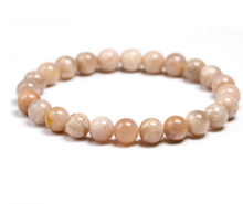 Load image into Gallery viewer, Sunstone, yoga, healing, stretch cording bracelet, jewelry.