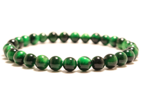 Load image into Gallery viewer, Green tiger eye stone, stretch elastic bracelet, jewelry
