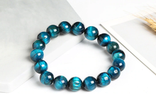 Load image into Gallery viewer, Light blue tiger eye stone, stretch elastic bracelet, jewelry