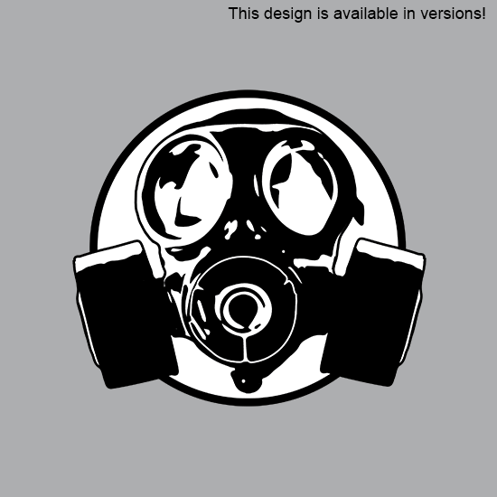 Simple Gas Mask Outlin...