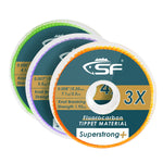 SF Clear Fluorocarbon Fly Fishing Tippet Line with Holder (3 Pack)