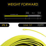 SF Hi-Viz Fly Fishing Sinking Tip Line