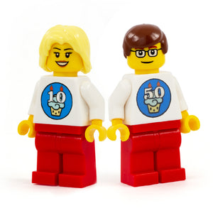 Minifigs with Customisable Birthday Cake Design