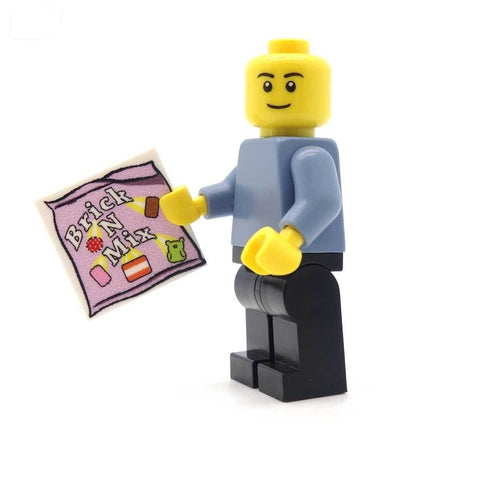 Minifig Holding Brick N Mix Tile