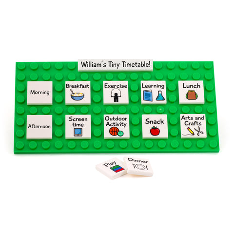 Personalised Visual Timetable - Custom Printed Tiles and Plate