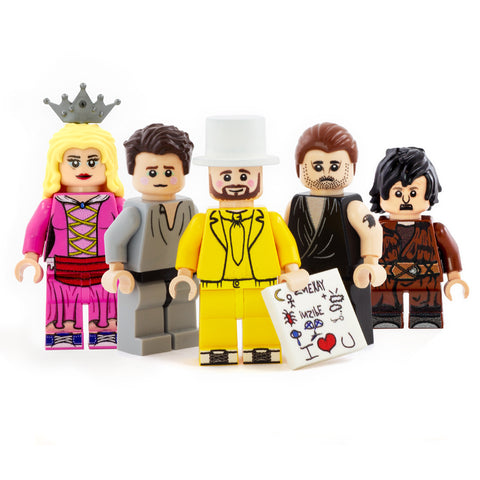 The Nightman Cometh Cast (5 figures) - Custom Design Minifigure Set