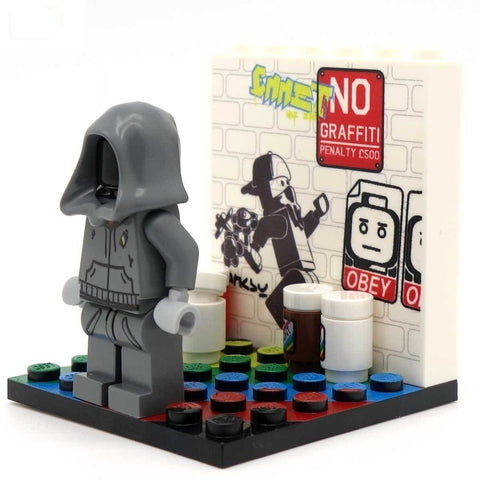 Street Artist - Custom Design Minifigure