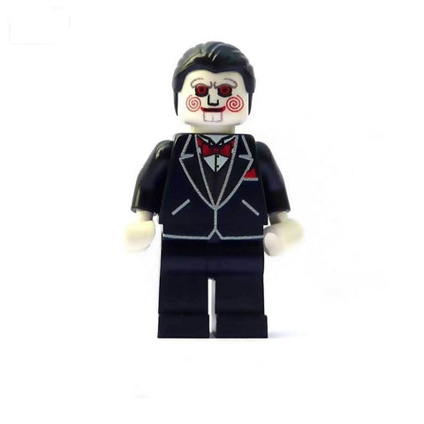 custom lego minifigure billy saw horror minifigure