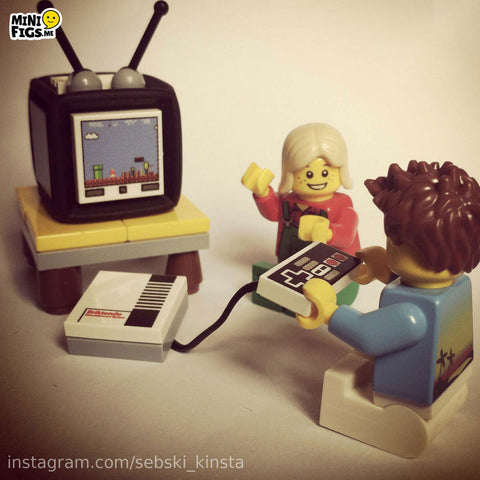 TV and Retro Games Console custom lego